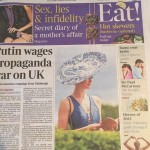 'Blue Italian' Hat to Celebrate 200 years of the Spode Designs hits the front page of 'The Times'